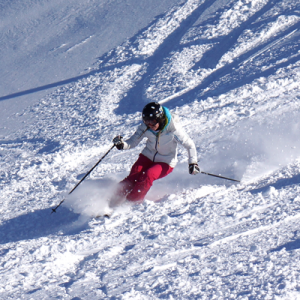 ripping it up on a performance ski camp